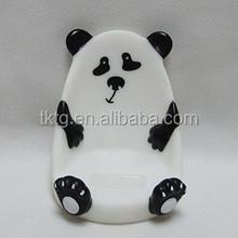plastic panda handset seat, mobile phone holder
