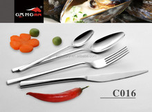 C016 Elegant Design Square Handle Stianless Steel Flatware