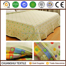 100% cotton colorful summer organic baby blanket also can be bed sheet