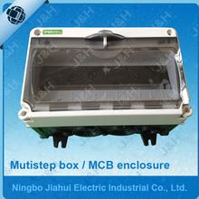 IP65 waterproof MCB enclosure, outdoor waterproof mutistep box, industrial plastic electrical enclosure