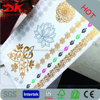 temporary tattoo leather necklace for ladies body gold flash tattoo