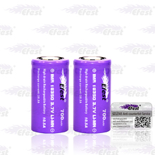 Efest high discharge 3.7v li-ion 10.5A rechargeable storage battery 18350 700MAH Flat top battery