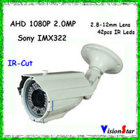 3-Axis Design 1080P CCTV Camera Best Selling Analog Surveillance Video Camera OSD Menu Varifocal Lens Camera Support Backlight