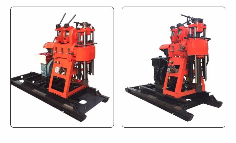 XY-200 прицепные используется портативный бурение скважин на воду буровые установки