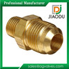 1/4 or 3/8 Lead Free Brass Hexagon Npt flare Copper Pipe Fitting For Water Male Threaded Connector Flare Nipple