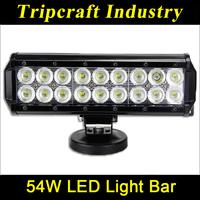 High Quality! 9inch 54W LED LIGHT OFFROAD for Driving Tractor Boat Truck SUV ATV Car 12V 24V LED Bar