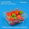 Transparent disposable plastic fruit container / plastic fruit package