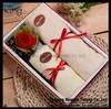 wholesale 100% cotton bamboo fiber flower luxury soft small towel set