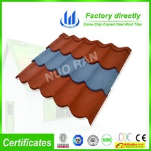 coating material metal roof tile sheet / better than clay roof ridge tile / roof tile (factory)