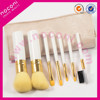2015 Nonoci Synthetic hair 7pcs cosmetic brush set makeup kit with pouch