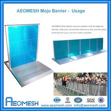 Security barrier used in crowd control activities,stage,performance environment