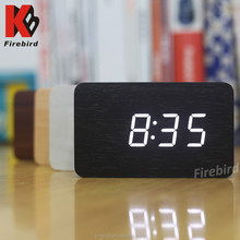 best selling products led wood clock winner with time date temperature