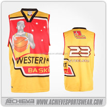 customised big size basketball tops