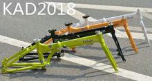 Folding bike frame with shock absorber alluminum bicycle frame MTB bike Alumium frame
