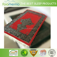 Embossed print Non slip memory foam prayer mat