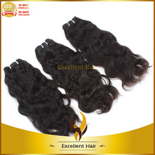 Grade 6A short and long 100 gram weight natural wave hair weave