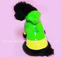green pvc pet raincoat/dog raincoat