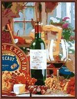 still life canvas oil painting by numbers kit paint boy brand GX6525