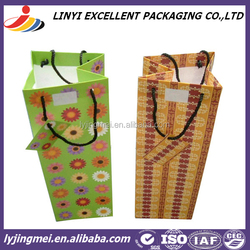 cheap good quality wine paper packaging bag