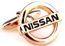 HEYCO brass rose gold nissan auto car logo arabic men's cufflinks