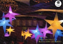 2015 hot selling 8-pointed inflatable hanging decoration stars