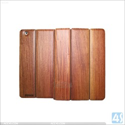 Wood bamboo case for ipad 2 3 4 wood case for ipad smart