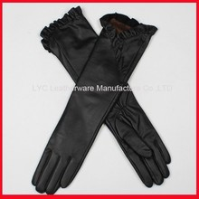 Classic black elbow length gloves / long women gloves /long opera gloves