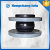 Sea water resistant flat flange flexible rubber expansion joint absorber