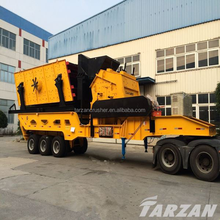 Shanghai Tarzan new design mobile stone rock crusher in good price