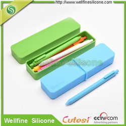 2015 new products stationery silicone pen box