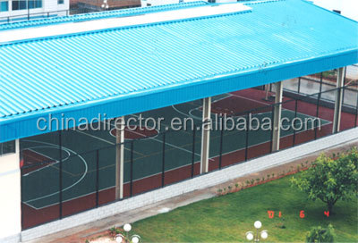 Steel structure metal space frame basketball court shed for Building a basketball court