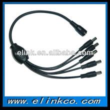 cctv dc cable de alimentación splitter 1 a 5 cable