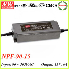 Meanwell NPF-90-15 90w switching power supply 15v 4a