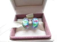 Sterling Silver Secret Garden Murano Glass Beads Fit European Jewelry Charm Bracelets & Necklace