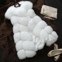 IV02 European fashion winter lady faux fur vest