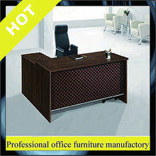 steel L type modern executive office desk with wheels
