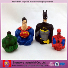 super hero 3d action figure;6inch realistic action figure; soft cape plastic action figure for collection
