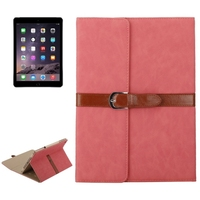 Fast Delivery 3 Folding Flip Leather PU Leather Case for iPad Air 2 with Holder and Buckle