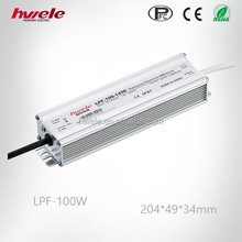 LPF-100W single output dc waterproof LED power supply with PFC function passed SGS,CE,ROHS,TUV,KC,CCC certification