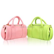 Soft PU Leather Ladies Handbag Korean Fashion Pillow Shape Lady Tote Bag