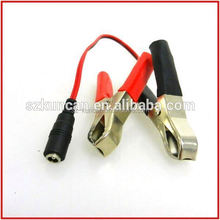 Car battery 2.1mm DC Plug to Alligator Clips cable for motorcycle/Car/ATV/Boat battery