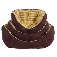 quality suede dog bed