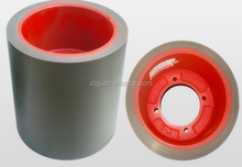 rice huller rubber roller with aluminum drum for rice mill machine