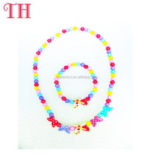 cheap wholesale cute candy colors beads kids jewelry set