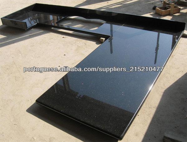 F brica de venda direta polido granito preto gal xia bancada for Fabrica de granito