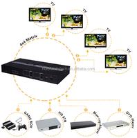 1.3V 1.4 VHDMI Matrix 4x4 - IR Remote - 3D - Mult mode control by LAN,RS232,local IR remote