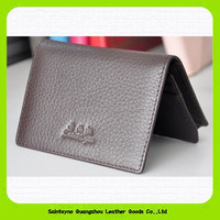 15208 SaintSyno Branded simple biflod genuine leather men wallet