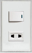 igoto American style 1 gang 2 pin electric wall switches and power socket