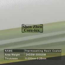 Thermosetting Resin Coated fiberglass cloth product
