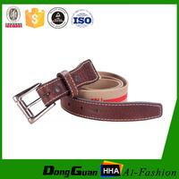 Cheap custom logo canvas fabric belt manufacturer with pin buckle